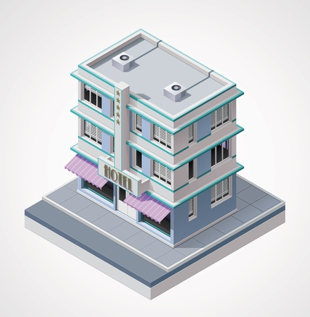 hotel icon: isometric hotel