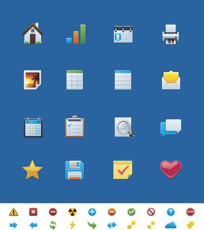 common website icons for webmasters Illustration