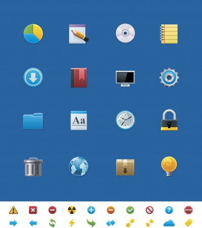 common website icons for webmasters Stock Vector - 14947021