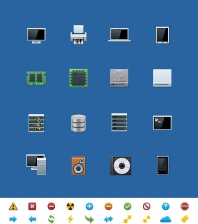 common website icons. Hardware Vector