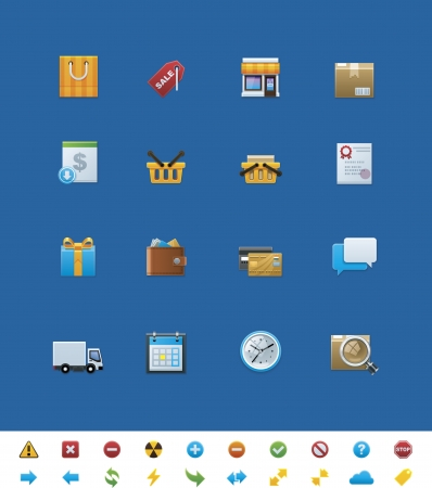 common website icons. Shop Vector