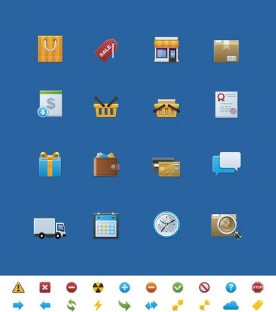 chatbox:  common website icons. Shop Illustration