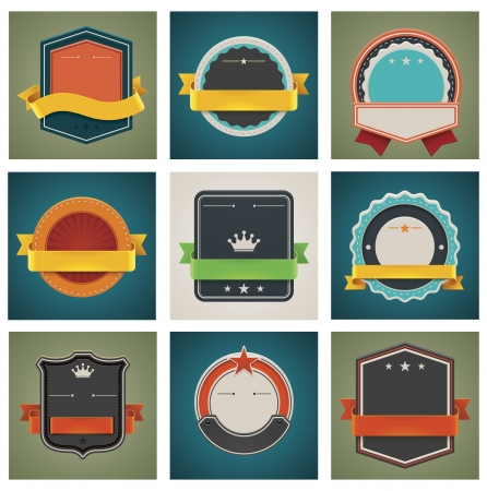 vintage badge: Vector badges set