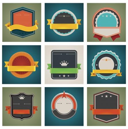 Vector badges te stellen Vector Illustratie