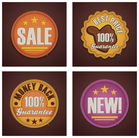 sellout: Vector shopping badges set