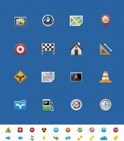 gps navigation: Sitio web de vectores iconos de navegaci�n GPS com�n Vectores