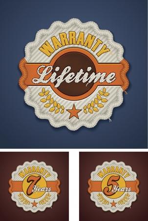 term: Vector warranty term fabric badge Illustration
