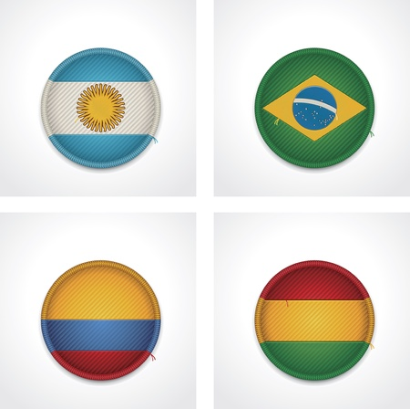 coarse: flags of countries as fabric badges