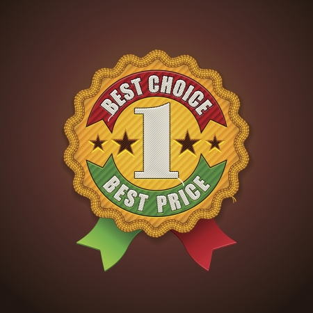 best choice fabric badge Stock Vector - 15711955