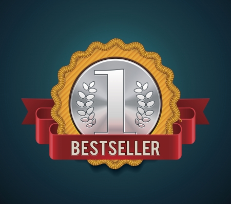 bestseller badge Stock Vector - 15711954