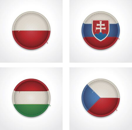 slovakia flag: flags of countries as fabric badges