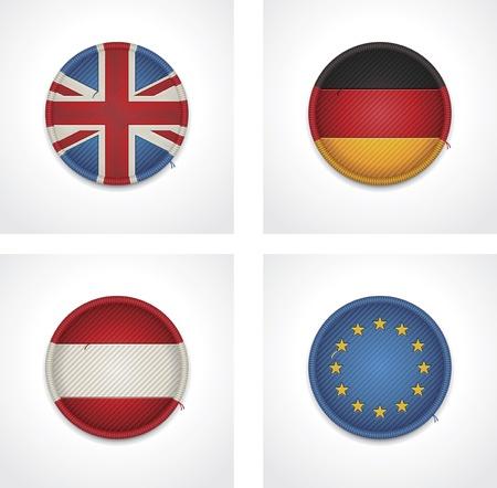 bandera de gran bretaña: banderas de países como insignias de tela