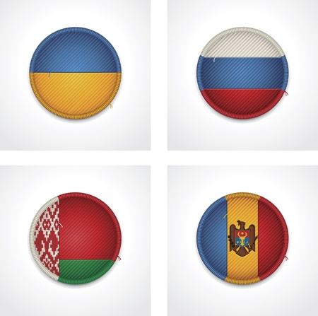 belarus: flags of countries as fabric badges