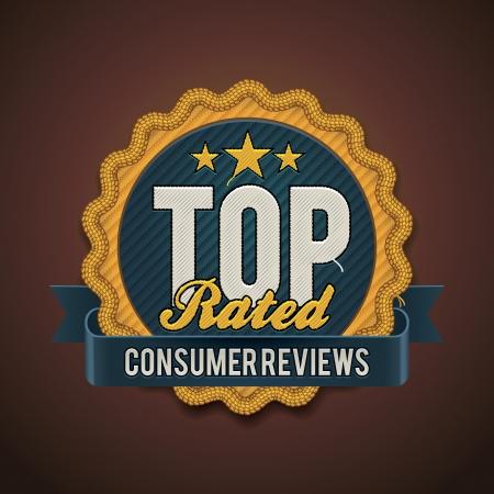 consommateurs: haut insigne nominale Illustration