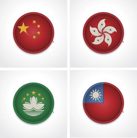 Drapeaux des pays comme insignes de tissu