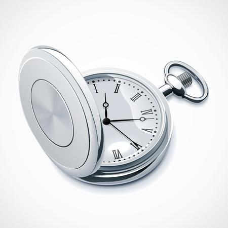 reloj antiguo: Reloj de bolsillo Vectores