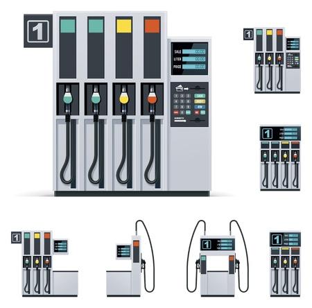 station service: Pompes � essence mis en Illustration
