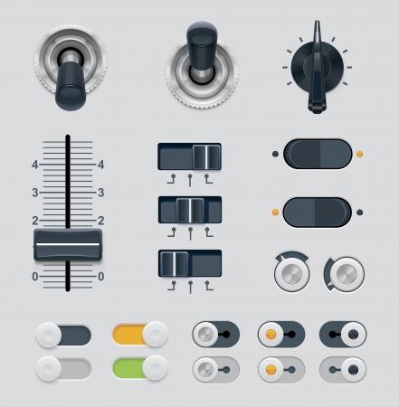 Diales de la interfaz de usuario establecido Ilustración de vector