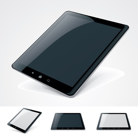 tablet: Vector generic tablet pc  Illustration