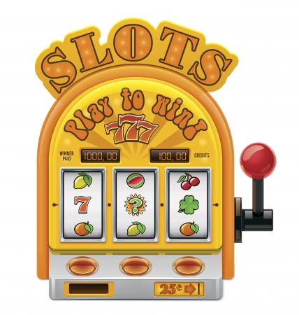 machine: slot machine icon Illustration