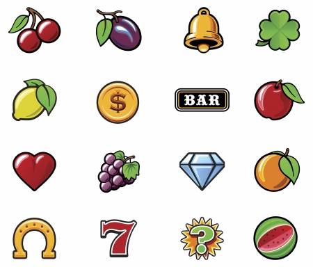 casino machine: slot machine symbols set