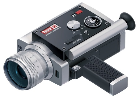 home video camera: Vector retro camcorder icon