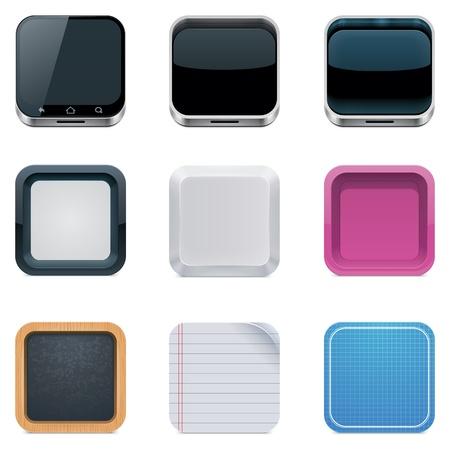objetos cuadrados: Backgrounds vector de los iconos cuadrados Vectores