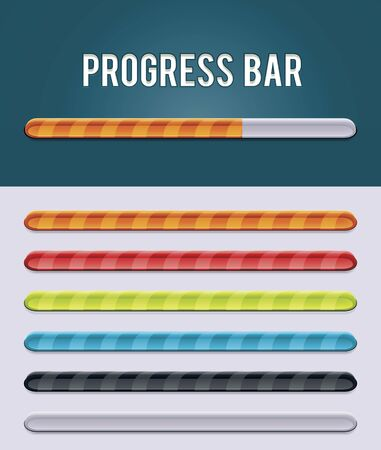 Vector gloving progress bar Stock Vector - 16798235