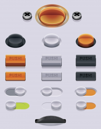 Vector UI dials set Stock Vector - 16798237