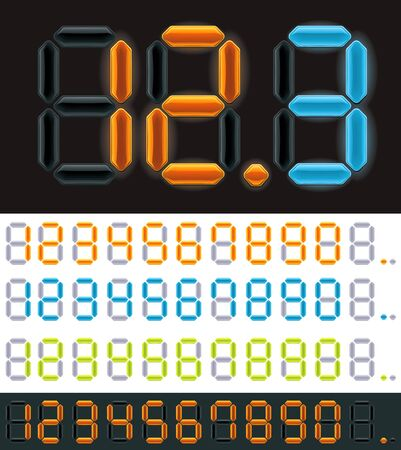 Vector neon digits Stock Vector - 16798240