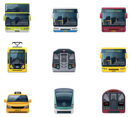 intercity: Vector public transport icons