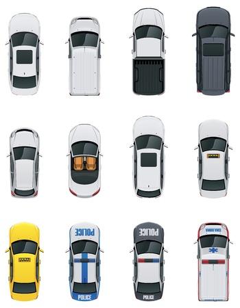 bovenaanzicht mens: Vector auto gezet