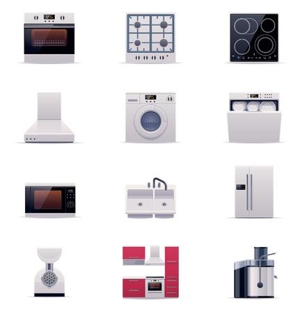 huishoudelijke apparaten set deel 1 Vector Illustratie