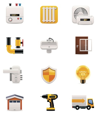 House renovation icon set  Part 2 Vector