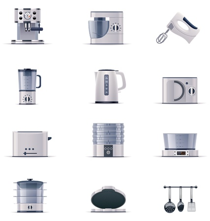 food processor: domestic appliances set. Part 2 Illustration