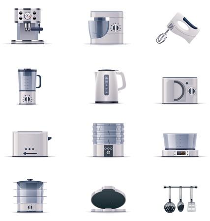 appliances: domestic appliances set. Part 2 Illustration