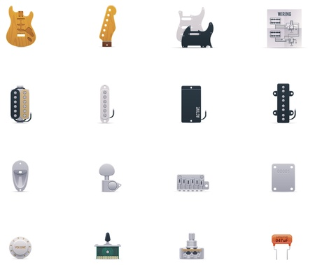 capacitor: guitar parts icon set