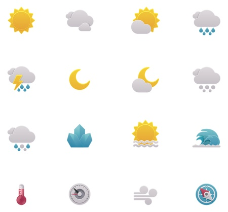 rainstorm: Vector weather icons