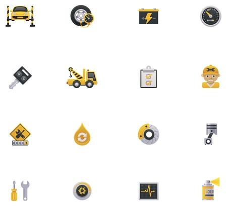 frenos: Servicio de coche icon set Parte 1