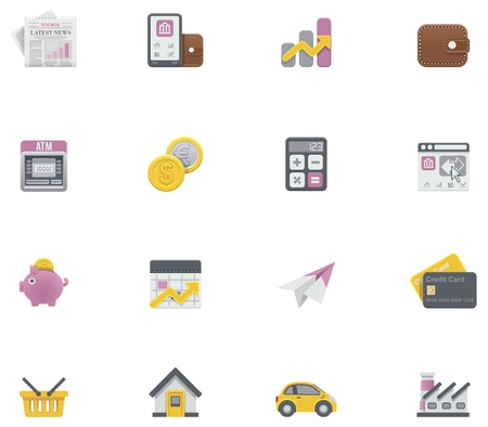hypothec: Vector banking icons