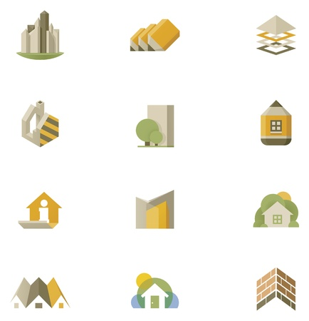 estate planning: real estate icon set Illustration