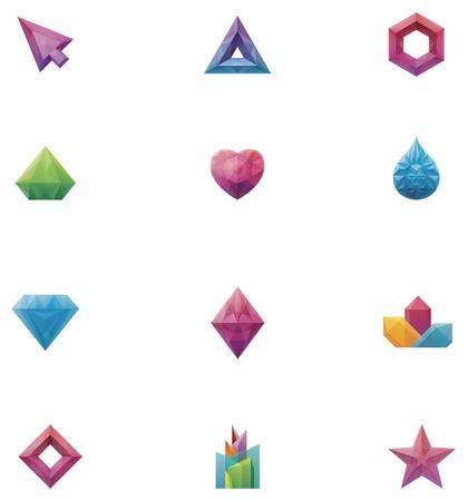 gemstone jewelry: crystals set Illustration