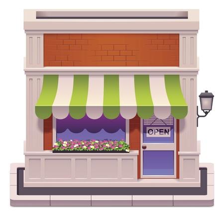 magasin: petite ic�ne de boutique Illustration