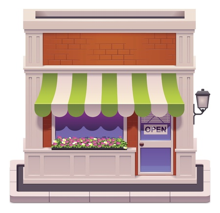 storefront: small shop icon  Illustration