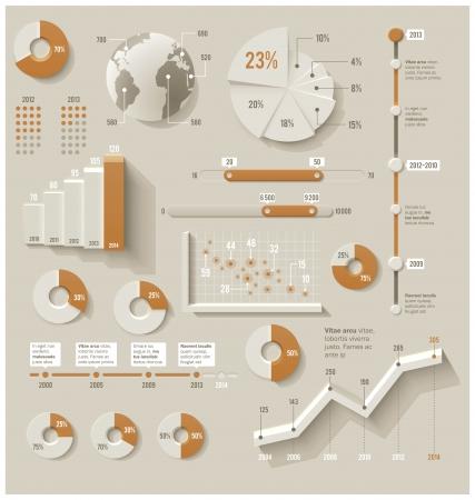 stat: Vector infographic elements Illustration