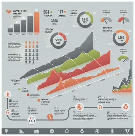 timeline: Vector business related infographic elements