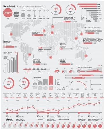 Vector economische en industriële infographic elementen