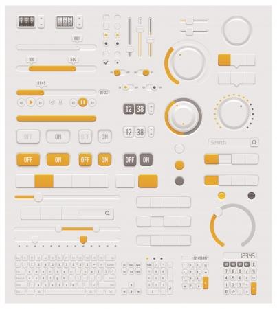 ベクトル UI ダイヤル セット  イラスト・ベクター素材
