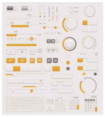 Vector UI dials set Stock Vector - 21070786