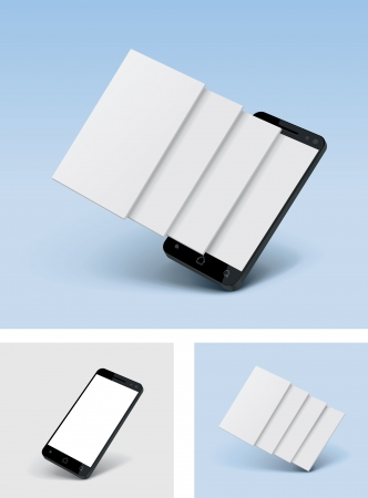 feature: Vector smartphone icon with blank screens Illustration